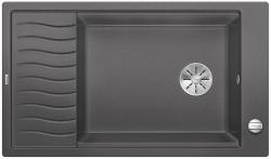 BLANCO ELON XL 8 S Silgranit PuraDur Szarość skały odwracalny, korek auto., InFino, kratka ociekowa