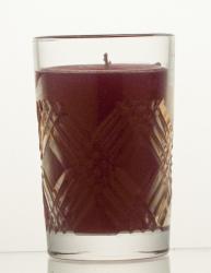 Świeca w kryształowym świeczniku (06179)