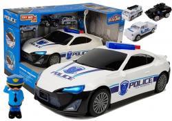 Auto Policyjne Schowek Garaż 2w1 Policjant Małe Autka Dźwięk Światła