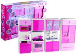 Kuchnia Dla Lalek Z Akcesoriami Świeci Gra Różowa