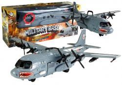 Wojskowy Samolot Baza Militarna Światła i Dźwięki