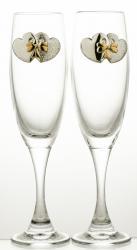 Kieliszki ślubne do szampana kryształ 2 sztuki