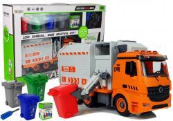 Zestaw DIY Śmieciarka Sorter Segregowanie Odpadów Gra Śrubokręt Dźwięk Efekty Świetlne