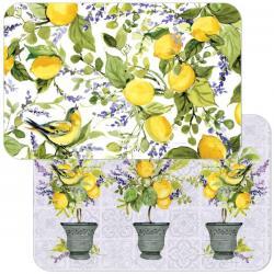 Cala Home Podk?adki na stó? dwustronne C174-00080 Watercolor Lemons