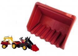 Łyżka do traktorka Benson/Herman czerwona
