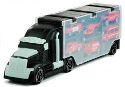 Czarna Ciężarówka z 6 Autkami Jeżdżąca Walizka