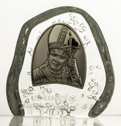 Przycisk kryształowy Jan Paweł II i grawer 3976