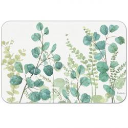 """Cala Home Podkładki na stół - matowe, przezroczyste C43310 """"greenery"""""""
