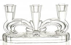Świecznik kryształowy trójramienny (11796)