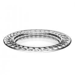 Talerz kryształowy na ciasto przystawki 1101