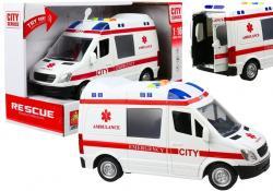 Auto Karetka Pogotowia Ambulans Efekty Gra Świeci