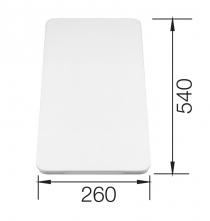 Deska do krojenia z białego tworzywa