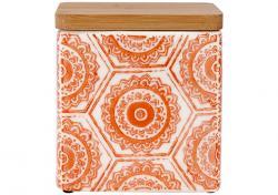 Ladelle Fieste Hex Orange wzór 3 pojemnik do przechowywania żywności L61506