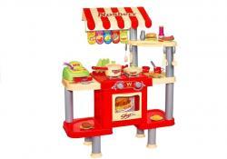 Duża Kuchnia 92 cm x 69 cm Fast Food + Akcesoria