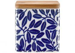 Ladelle Leaves Blue wzór 3 pojemnik do przechowywania żywności L61418