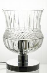 Elegancka lampa kryształowa stołowa stojaca