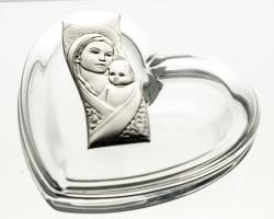Bomboniera kryształowa serce Matka Boska (05987)