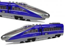 Pociąg Pendolino z Naciągiem Niebieski z Dźwiękiem i Światłami