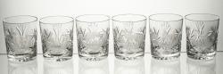 Szklanki grawerowane do whisky 6 sztuk myśliwskie (14294)