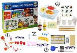 Zestaw Naukowy 4w1 Chemia Bursztyn Detektyw Kulki
