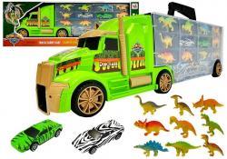 Ciężarówka Transporter Sorter Walizka z Dinozaurami Zielona