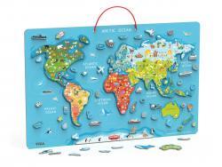 Viga 44508 2w1 Tablica edukacyjna z magnetyczną mapą świata