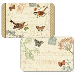 "Cala Home Podkładki na stół dwustronne C45180 ""Songbirds"""