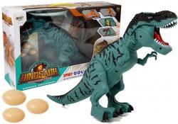 Dinozaur na Baterie Tyranozaur Znosi Jaja Niebieski