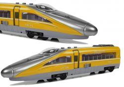 Pociąg Pendolino z Naciągiem Żółty z Dźwiękiem i Światłami