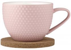 Ladelle Abode Pink Sand zestaw kubek i podk?adka korkowa L62139