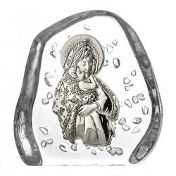 Skałka kryształowa przycisk Matka Boska (03828)