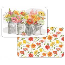 "Cala Home Podkładki na stół dwustronne C174-00114 ""farmhouse floral"""