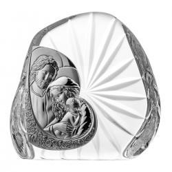 Przycisk skałka Święta Rodzina kryształ 07095