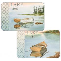 """Cala Home Podkładki na stół dwustronne C49652 """"lake boat"""""""
