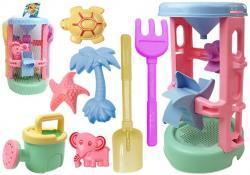 Zestaw zabawek plażowych Lejek Foremki 8 elementów