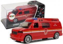 Auto Straż Pożarna z Naciągiem ze światłami i dźwiękiem