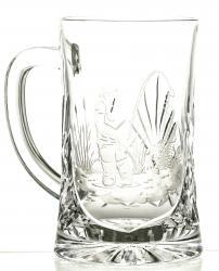 Kufel grawerowany do piwa wędkarz kryształowy (05994)