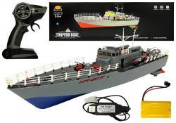 Statek Kuter Torpedowy Zdalnie Sterowany R/C 1:115 2.4G Niebieski
