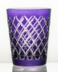 Szklanka kryształowa kolorowa do napojów fioletowa