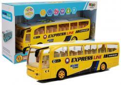 Autobus Wycieczkowy na Baterie Żółty 30cm