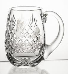 Kufel kryształowy do piwa z grawer żuraw (05625)