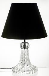 Elegancka lampa stołowa stojaca czarny klosz