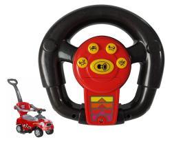 Kierownica do jeździka megacar coupe czerwona