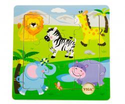 Viga 50838 Puzzle na podkładce zoo
