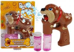 Pistolet na bańki mydlane Pies Buldog