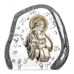 Skałka kryształ przycisk Matka Boska 3947