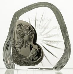 Skałka kryształowa z dziewczynką Komunia 7331