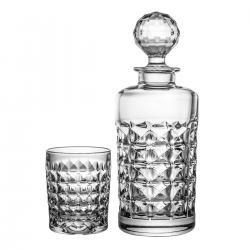 Karafka i 6 sztuk szklanek do whisky 3443