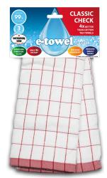 E-cloth ?ciereczka z mikrofibry i bawe?ny do kieliszków Red CC E20169