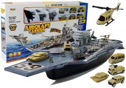 Statek Lotniskowiec Wojskowy z Pojazdami 86cm
